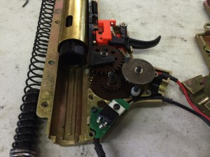 Krytac Trident CRB gearbox disassembled